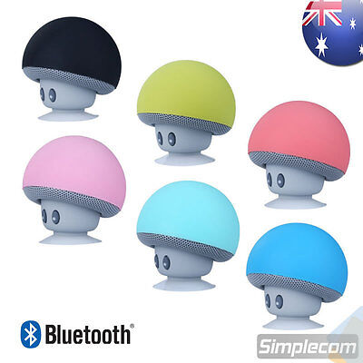 Mini Mushroom Bluetooth Wireless Speaker with Suction Cup for iPhone Android