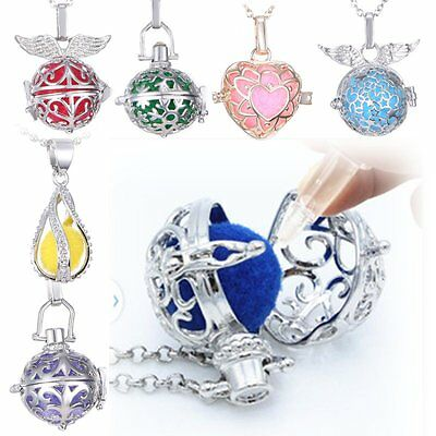 Fashion Women Sister Gifts Fragrance Oil Aromatherapy Diffuser Locket Necklace