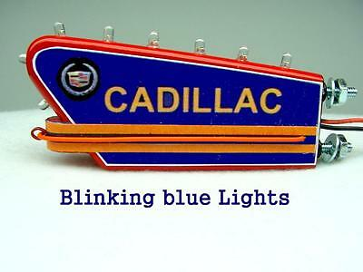 1-24 Scale Blue Blinking Sign For A 1950 s Cadillac Dealership Diorama