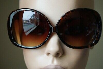 Super OVERSIZED XXL Very Big Large Round Dark Lens Sunglasses Women Black Brown