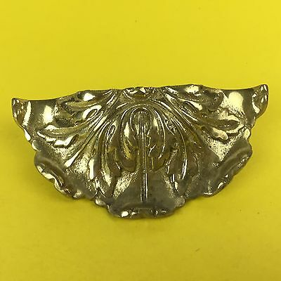 Vtg Period Brass Drawer Large Drawer Pull A4893