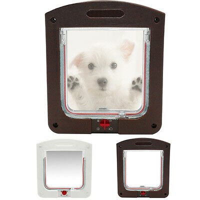 2/4 Way Staywell Cat Flap Small Pet Cat & Dog Safe Lockable Door Flap for Puppy