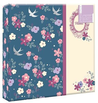 "Vintage Floral Photo Album 200 4x6"" 104 5x7"" 80 4x6"" Photos or Self Adhesive"