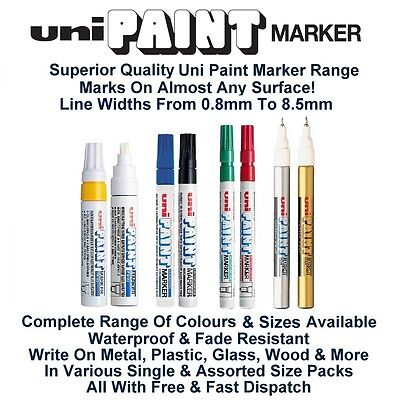 Uni Colour Oil Paint Marker Pen Metal Glass Wood Plastic Stone Outdoor Nib Tip