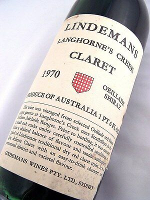 1970 LINDEMANS Oeillade Shiraz Claret F Isle of Wine