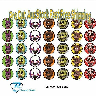 35X Edible Cupcake Toppers FNAF Five Nights at Freddie Wafer 35mm Birthday Cake