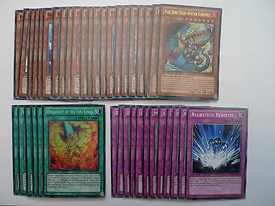 Fire King Deck * Ready To Play * Yu-gi-oh