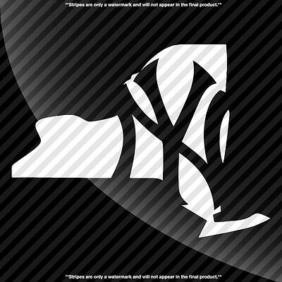 New York Yankees Plain NY State Pride Decal Sticker - TONS OF OPTIONS