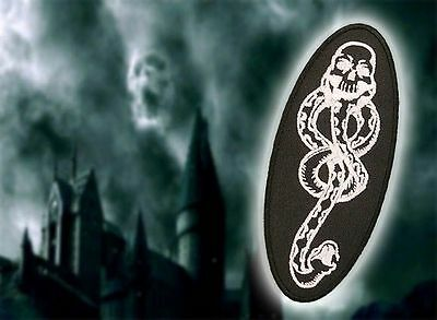 """""""THE DARK MARK"""" Lord Vordemort's """"DEATH EATERS"""" - Harry Potter Embroidered Patch"""
