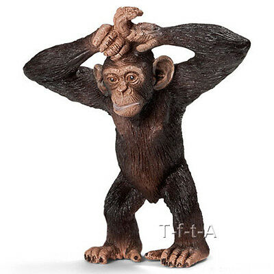 FREE SHIPPING | Schleich 14680 Young Chimpanzee Toy Figurine - New in Package