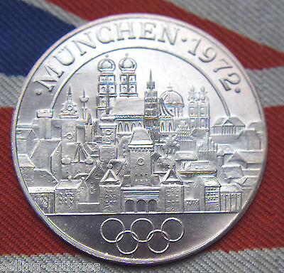 GERMANY SILVER MEDAL OLYMPIC GAME MUNCHEN 1972 27mm