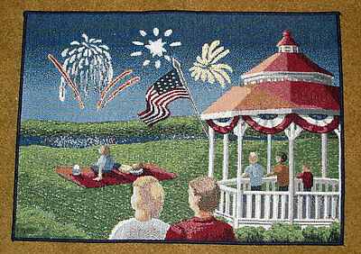 Independence Day ~ 4th of July Gazebo Tapestry Placemat