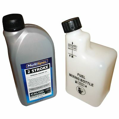 1 Litre Of 2 Stroke Oil & Fuel Petrol Mixing Bottle Ideal For Stihl Chainsaw