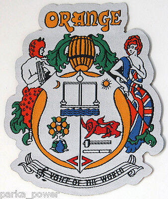 Orange Amps Woven Patch, iron on, Musicians, Bands, Artists, Rock