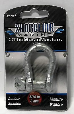 "PAIR 3//16/"" Galvanized Screw Pin Shackle for Anchor Line Boating Anchorline"