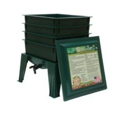 4 Tray WORM Factory® 360 Composting BIN Farm COMPOSTER Vermicomposting GREEN