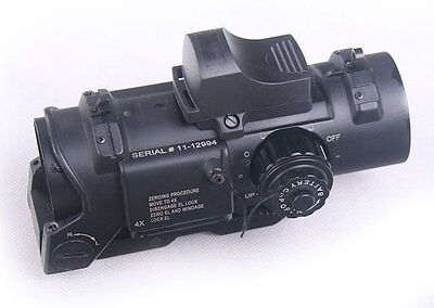 New 4x Fixed Dual Role Scope With Mini Red Dot For Rifle Hunting Shooting