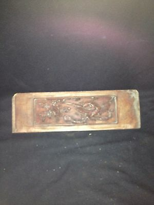 "15"" Chinese Carved Wood Pediment Panel"