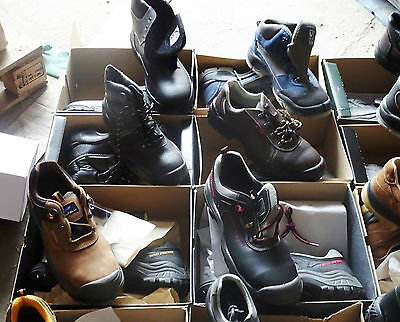 176 x WHOLESALE JOBLOT Pallet Safety Work Boots, Trainers, Shoes - Leather