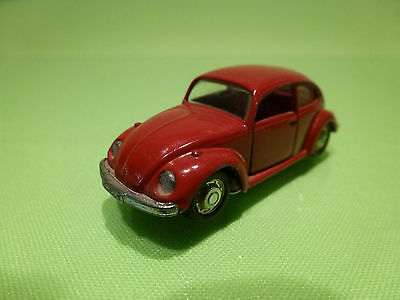 Schuco 818 Vw Volkswagen Kafer Beetle 1302S - Red 1:66 - Good Condition