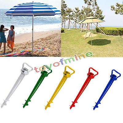 Beach Garden Patio Sun Umbrella Holder Parasol Ground Earth Anchor Spike Stand