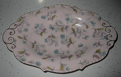 "Vintage Tuscan ""fine English Bone China"" Candydish Soft Lavender Color Gold Trim"