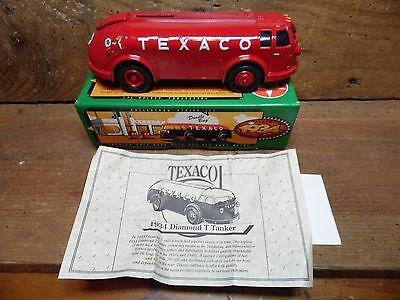 Texaco Doodle Bug Bank~1994 ~ Ertl~1934  Diamond T Tanker~New In Box