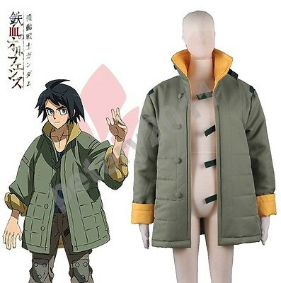 Gundam Iron Blooded Orphans Tekkadan Mikazuki Augus Coat Cosplay Costume Jacket