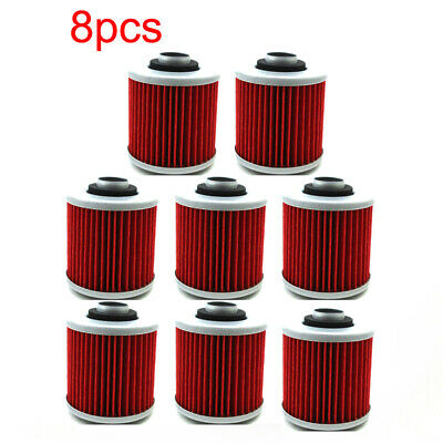 8x Oil Filter For Yamaha XTZ660 Tenere XV750 Virago XT500 SRX400 YD250 SR500