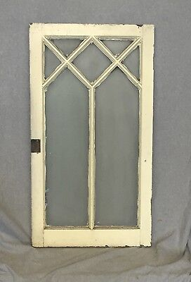 Antique Diamond Casement Window Sash Cabinet Door Shabby Frosted Glass 863-16