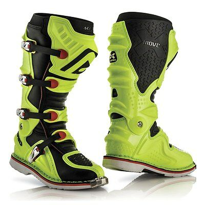 Acerbis X Move 2.0 Boots Fluo Yellow Hinged Motocross Mx Enduro Quad Cheap Flo