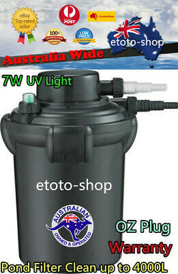 Jebao Bio-Pressure Fish Pond Filter 9W UV 4000L - New Model Perfect for KOI