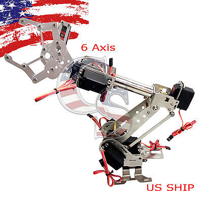 R3 Fully Assembled 7 Axis Mechanical Robotic Arm Clamp for Arduino, Raspberry
