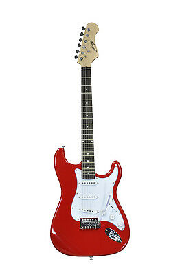 Johnny Brook Stratocaster Electric Guitar - Red Gloss Paintwork