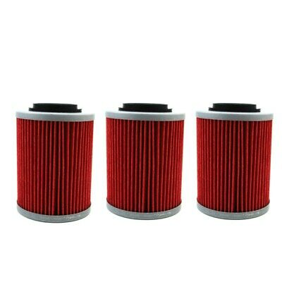 3x Oil Filter For CAN-AM BOMBARDIER DS650 330 HO RENEGADE 800R APRILIA 650