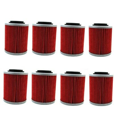 8x Oil Filter For CAN-AM RENEGADE 850 1000 COMMANDER MAX 800R MAVERICK 1000R