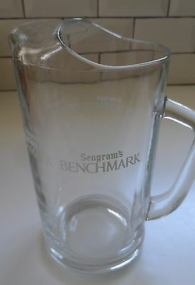 Seagram's Benchmark Kentucky Bourbon Whiskey Pitcher Barware