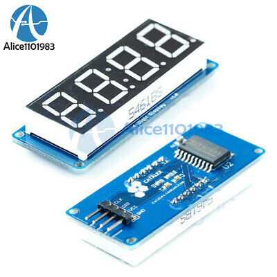 "0.56"" LED 4-Digit Tube Display (D4056A) Module with Time Clock for Arduino MA"
