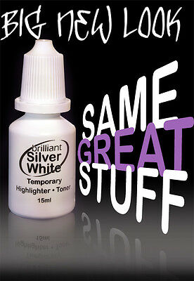 Brilliant Silver White Blonde Hair Toner 15ml - It's Just like Magic!