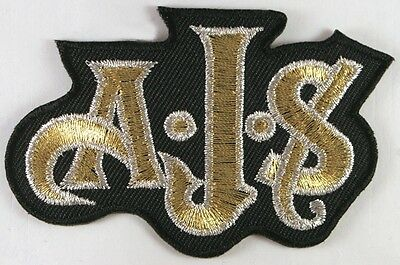 Embroidered AJS Classic Motorcycles BIKER IRON ON PATCH SEW ONBADGE A828