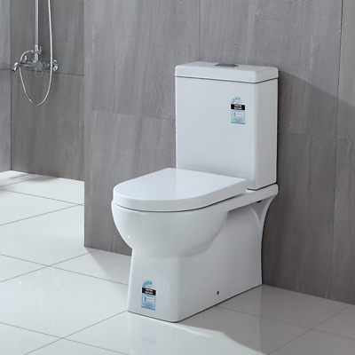 ZEENA Bathroom Toilet Suite Ceramic Back To Wall Face Soft Close Seat P S REN01