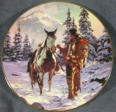 Morning Of Reckoning by Chuck Ren The Last Warriors Collector Plate
