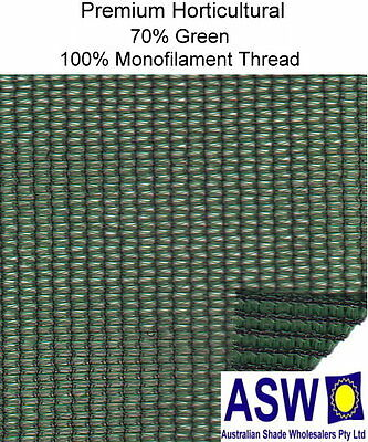 70% UV 1.83m wide GREEN SHADECLOTH Premium Horticultural Commercial Shade Cloth