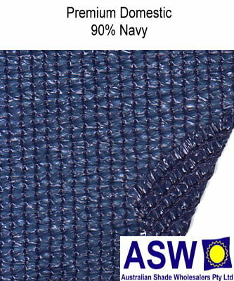 90% UV 1.83m (6') wide NAVY BLUE SHADECLOTH Domestic Plus Knitted Shade Cloth