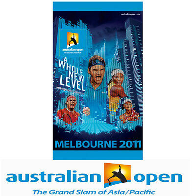 Official Australian Open 2011 Campaign Artwork Towel   Limited stock available
