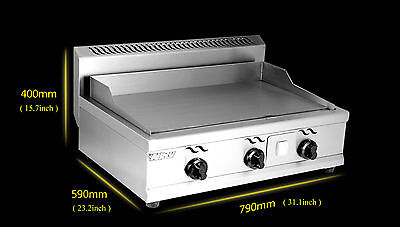 Stainless Steel Commercial Kitchen Countertop Flat LP Gas Griddle Grill