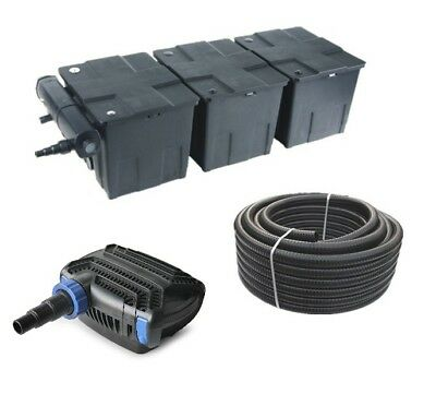 Pond filter Set 90,000 l CBF350 C +Eco Pump +UVC clearer +10 Metres Pond hose