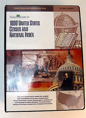 LDS Family Search 1880 United States Census and National Index CD Set Library