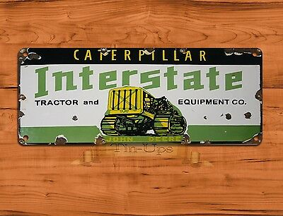 "TIN-UPS TIN SIGN ""Caterpillar Interstate Tractor""  Farm Rustic Wall Decor"