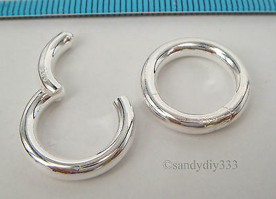 1x STERLING SILVER CHANGEABLE PENDANT CLASP BAIL SLIDE Donut Holder 17mm #2227